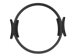 ProSource Pilates Resistance Power Dual Gripped Fitness Ring, Black, 14-Inch