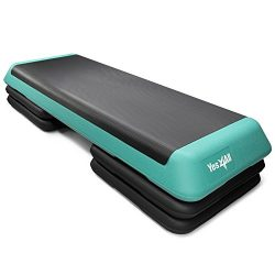 Yes4All Adjustable Aerobic Step Platform 40 inch with 4 Risers – Exercise Step Platform / Aerobi ...