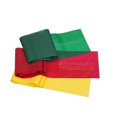 TheraBand Resistance Band Set, Professional Latex Elastic Bands for Upper & Lower Body & ...