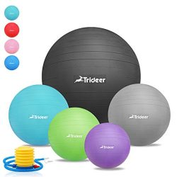 Trideer 45-85cm Exercise Ball, Birthing Ball, Yoga Pilate Fitness Balance Ball lug Kit, Anti-Sli ...