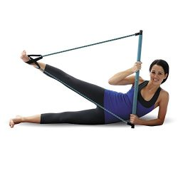 Empower Pilates Resistance Band and Toning Bar Home Gym, Portable Pilates Total Body Workout, Yo ...