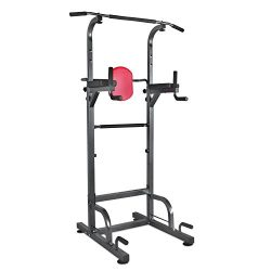 Relife Sports Power Tower Workout Dip Station for Home Gym Strength Training Fitness Equipment