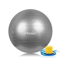 Exercise Ball, EXTRA THICK Yoga Ball Chair, Anti-Burst Heavy Duty Stability Ball Supports 2200lb ...