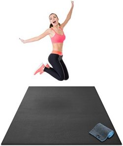 Premium Large Exercise Mat – 6′ x 4′ x 1/4 Ultra Durable, Non-Slip, Workout Ma ...
