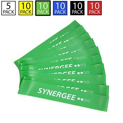 iheartsynergee 10 Pack Mini Band Resistance Loop Exercise Bands Green Medium Resistance