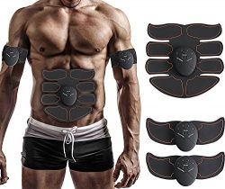 Muscle Toner, Abdominal Toning Belt, EMS ABS Trainer Wireless Body Gym Workout Home Office Fitne ...