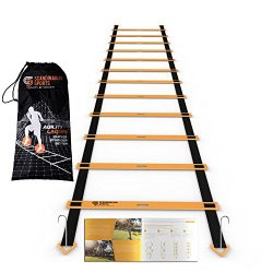 Scandinavian Sports Agility Ladder – 12 Adjustable Rungs 19 Feet – Agility & Sp ...