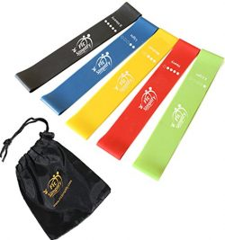 Fit Simplify Resistance Loop Exercise Bands with Instruction Guide, Carry Bag, EBook and Online  ...