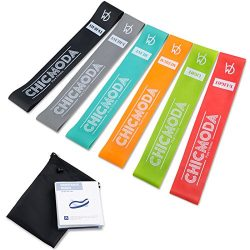 Exercise Resistance Loop Bands Set of 6, CHICMODA 100% Premium Natural Latex Workout Bands Fitne ...