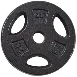 CAP Barbell Standard Grip Plate, Black, 7.5 lb