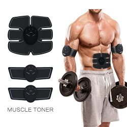 Muscle Toner & ABS Stimulator -Electric Abdominal Toning Belt Exercise Machine Body Muscle T ...