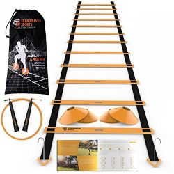 Scandinavian Sports Speed Training Set – Agility Ladder, Jump Rope, Sport Cones and Exerci ...