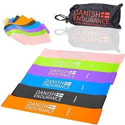 DANISH ENDURANCE Resistance Loop Exercise Bands (6 Pack)