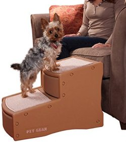 Pet Gear Easy Step II Pet Stairs, 2-step/for Cats and Dogs up to 150-pounds, Cocoa