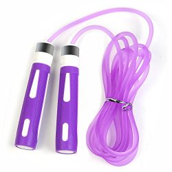 YOKIRIN Best Skipping Jump Rope for Endurance Training and Fat Burning – Handles Speed Cab ...