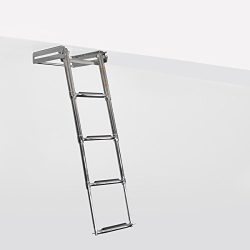 RecPro Marine 4 STEP TELESCOPING 316SS UNDER TRANSOM & SWIM PLATFORM DROP BOAT LADDER SSL-E4