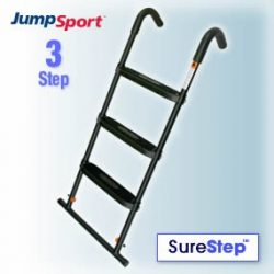 JumpSport SureStep 3-Step Trampoline Ladder | Powder Coated & UV Treated for Lasting Weather ...
