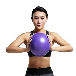 Comkit Mini Yoga Pilates Ball 9-10 Inch for Stability Exercise Training Gym Anti Burst and Slip  ...