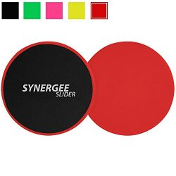 Synergee Rogue Red Gliding Discs Core Sliders. Dual Sided Use on Carpet or Hardwood Floors. Abdo ...
