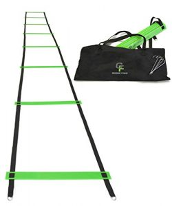 Gradient Fitness Agility Ladder – Fully Customizable Speed Ladder – 15 Feet – Adjustable Rung Sp ...