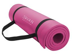 Sivan Health and Fitness 1/2-InchExtra Thick 71-Inch Long NBR Comfort Foam Yoga Mat for Exercise ...