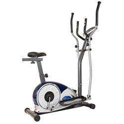 Body Max BRM3671 Body Champ 2 in 1 Cardio Dual Trainer / Elliptical Workout and Upright Exercise ...