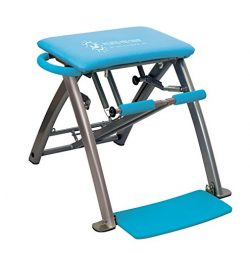 Life's A Beach Blue Pilates Pro Exercise Workout Fitness Chair Bench with 4 DVDs