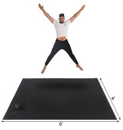 Gxmmat Large Exercise Mat 6'x 4'x 7mm Ultra Durable,Non-Slip,Thick Equipment Mats fo ...