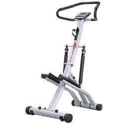 Goplus Folding Climbing Stepper Machine with Handle Bar and Bottle Holder Fitness Exercise Worko ...
