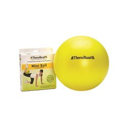 TheraBand Mini Ball, Small Exercise Ball for Abdominal Workouts and Shoulder Rehabilitation Exer ...