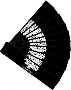 Perform Better Exercise Mini Band,  Black-Extra Heavy – Set of 10 (Exercise Guide Included)