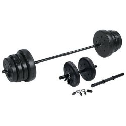 US Weight Duracast Barbell Weight Set with Dumbbells,105 lb