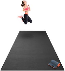 Premium Extra Large Exercise Mat – 10′ x 4′ x 1/4 Ultra Durable, Non-Slip, Wor ...
