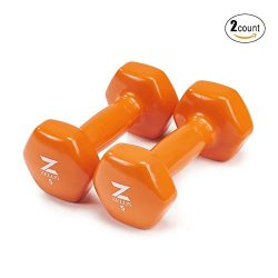 Z ZELUS Cast Iron Vinyl Coated Dumbbells Hand Weights for Women/Men Workout (Set of 2) (5)