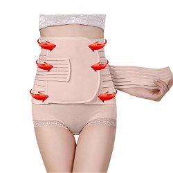 Postpartum Girdle Corset, Elastic & Breathable Postnatal Mother Recovery Belly Wrap, Abdomin ...