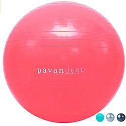 Exercise Balance Ball By Pavandeep 2000lbs Anti Burst Stability Balls for Fitness Pilates Yoga G ...