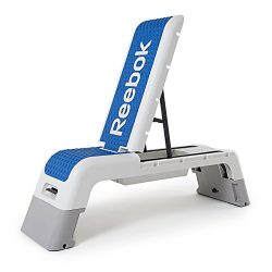 Reebok Professional Deck Workout Bench, White/Dark Blue