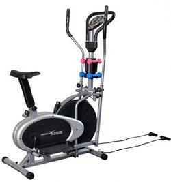 Body Xtreme Fitness 4-in-1 Elliptical Trainer Exercise Bike, Home Gym Equipment, Compact Design, ...