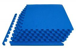 "ProSource Extra Thick Puzzle Exercise Mat 3/4"", EVA Foam Interlocking Tiles for Protective, Cush ..."