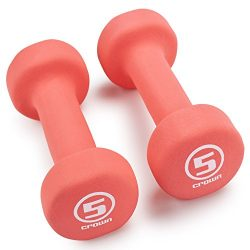 Pair of Neoprene Body Sculpting Hand Weights by Crown Sporting Goods (5 LB)