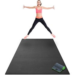 Premium Extra Large Exercise Mat – 8′ x 4′ x 1/4 Ultra Durable, Non-Slip, Work ...