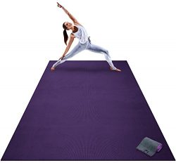 Premium Extra Large Yoga Mat – 9′ x 6′ x 8mm Extra Thick & Comfortable, No ...