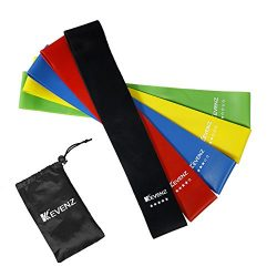 KEVENZ Thicker Design More Power Resistance Loop Exercise 5 Bands with Instructional Booklet,Car ...