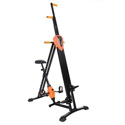 Vertical Climber Gym Exercise Fitness Machine Stepper Cardio Workout Training (Orange)