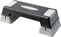 KLB Sport 28″ Adjustable Aerobic Stepper Platform For Outdoor & Indoor( Black & Grey)