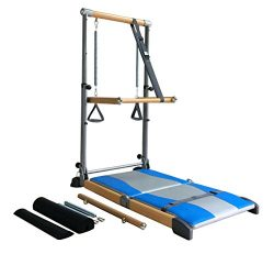 Beverly Hills Fitness Supreme Pilates Pro SPP089 with Ballet Barre Toning Tower, Yoga Pad, and D ...