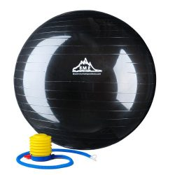 Black Mountain Products Anti Burst Exercise Stability Ball with Pump, Black, 2000-Pound/55cm