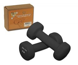 Da Vinci Pair of Neoprene Dumbbells with Non-Slip Grip, Choose Your Dumbbell Weight, 4 lbs