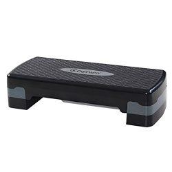 Giantex 27″ Fitness Aerobic Step Exercise Stepper Platform Adjust 4″- 6″ w/Riser