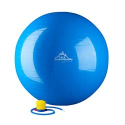 Black Mountain Products Static Strength Exercise Stability Ball with Pump, Blue, 2000 lb/45cm